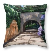 Walk With Me Throw Pillow by Suzanne Schaefer