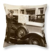 Wall Street Crash, 1929 Throw Pillow by Granger