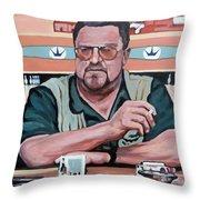 Walter Sobchak Throw Pillow by Tom Roderick