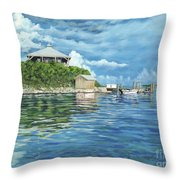 Warderick Wells Throw Pillow by Danielle  Perry