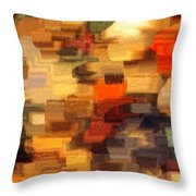 Warm Colors Abstract Throw Pillow by Carol Groenen