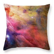 Warmth - Orion Nebula Throw Pillow by Jennifer Rondinelli Reilly - Fine Art Photography