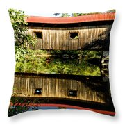 Warner Covered Bridge Throw Pillow by Greg Fortier