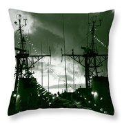 Warships At Twilight Throw Pillow by Gaspar Avila
