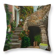 Wash Day Throw Pillow by Charlotte Blanchard