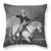 Washington Receiving A Salute At Trenton Throw Pillow by War Is Hell Store
