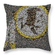 Washington Redskins Coins Mosaic Throw Pillow by Paul Van Scott