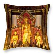 Wat Chedi Luang Wora Wihan Throw Pillow by Greg Vaughn - Printscapes