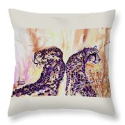Watchful Eyes Throw Pillow by Larry  Johnson