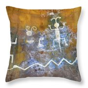 Watchtower Rock Art Throw Pillow by Julie Niemela