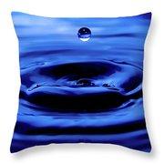 Water Drop Throw Pillow by Eric Ferrar