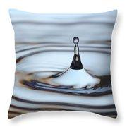 Water drop splash Throw Pillow by Frank Tschakert