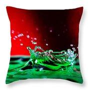 Water drop splashing Throw Pillow by Paul Ge