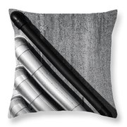 Water Pipes Throw Pillow by Wim Lanclus