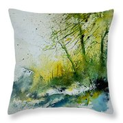 Watercolor 181207 Throw Pillow by Pol Ledent