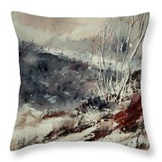 Watercolor 446 Throw Pillow by Pol Ledent