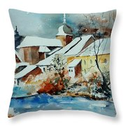 Watercolor Chassepierre Throw Pillow by Pol Ledent