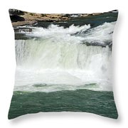 Waterfall at Ohiopyle State Park Throw Pillow by Larry Ricker