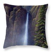 Waterfall Throw Pillow by Frank Wilson