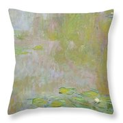 Waterlilies At Giverny Throw Pillow by Claude Monet
