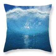 Wave Tube Throw Pillow by Ali ONeal - Printscapes
