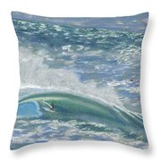 Waverider Throw Pillow by Patti Bruce - Printscapes