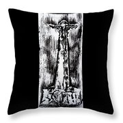 Wayside Cross Throw Pillow by Lucy Deane