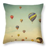 We Are Floating In Space Throw Pillow by Irene Suchocki