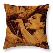 We Will Rock You Throw Pillow by Igor Postash