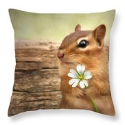Welcome Spring Throw Pillow by Lori Deiter