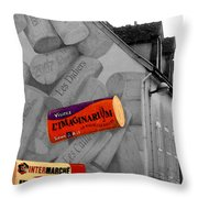Welcome To Bordeaux Throw Pillow by Joan  Minchak