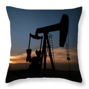 West Texas Sunset Throw Pillow by Melany Sarafis