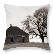 West Texas Winter Throw Pillow by Marilyn Hunt