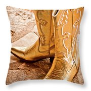 Western Wear Throw Pillow by Jill Smith