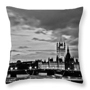 Westminster Black And White Throw Pillow by Dawn OConnor