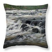 Wheelbarrow Falls Throw Pillow by Larry Ricker