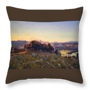 When The Land Belonged To God Throw Pillow by Charles Russell