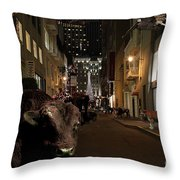 When The Lights Go Down In The City Throw Pillow by Wingsdomain Art and Photography
