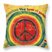 When The Power Of Love Throw Pillow by Debbie DeWitt