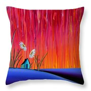 Where Flowers Bloom Throw Pillow by Cindy Thornton