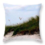 Where The Sea Wind Blows Throw Pillow by Ian  MacDonald