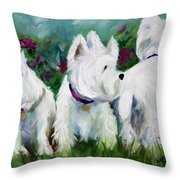 Which Way Did It Go Throw Pillow by Mary Sparrow