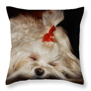 While Sugarplums Danced Throw Pillow by Lois Bryan