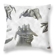 While We Sleep Throw Pillow by Brian Wallace
