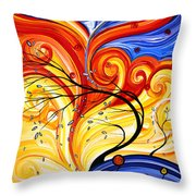 Whirlwind By Madart Throw Pillow by Megan Duncanson