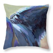 Whiskery Clyde Throw Pillow by Kimberly Santini