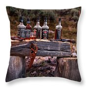 Whiskey And Guns Throw Pillow by Leland D Howard