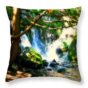 White Falls Throw Pillow by Perry Webster