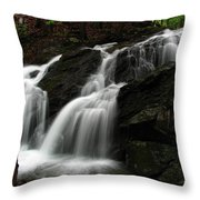 White Mountains Waterfall Throw Pillow by Juergen Roth