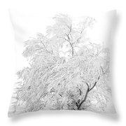 White On White Throw Pillow by Marilyn Hunt